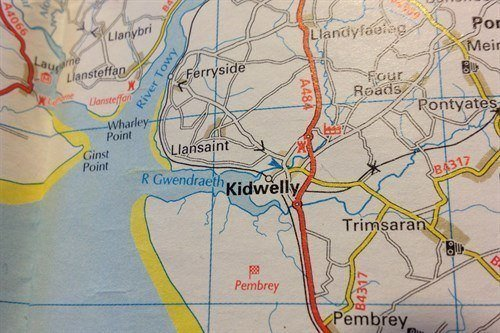Kidwelly On Map