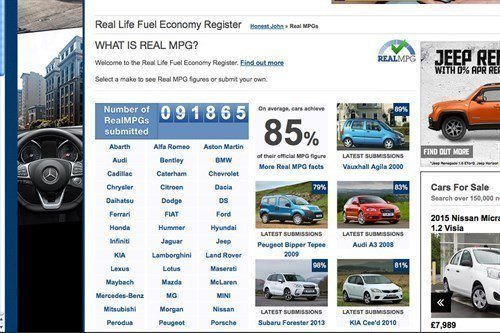 Real Life Fuel Economy Register