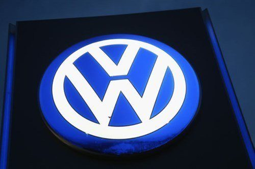 VW Logo In Blue