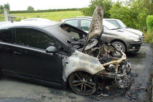 Burned Out Corsa