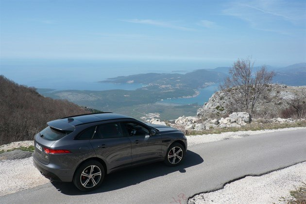 Jaguar F Pace Grey R34 Mountain Top