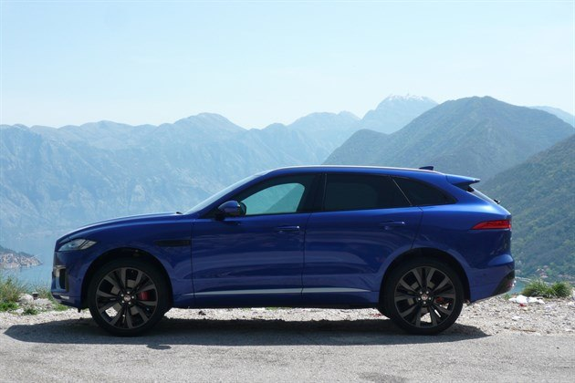 Jaguar F Pace Blue Side Mountain Top