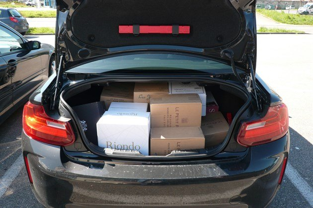 BMW M2 Trunk Full Of Wine