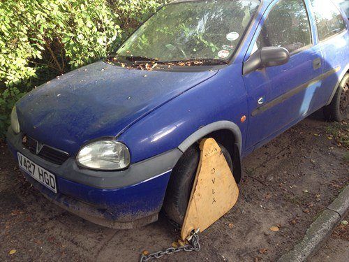 Vauxhall Corsa B Clamped