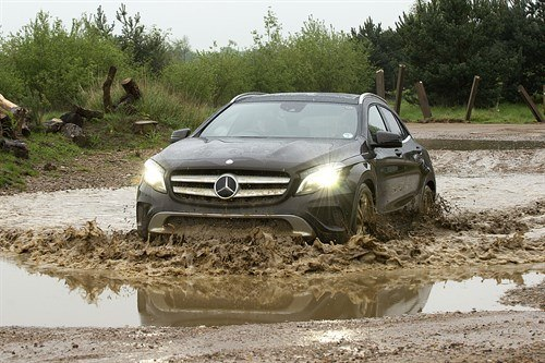 Mercedes GLA Mud Puddle