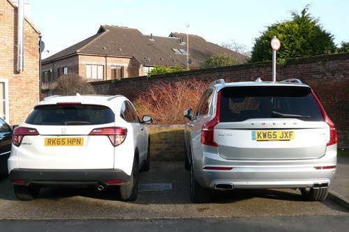 Honda HRV And Volvo XC90 Rears