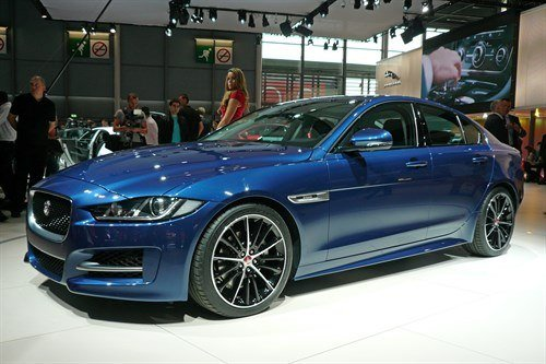 Jaguar XE 2015 Front Side Blue