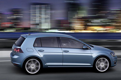 VW Golf VII Blue Side Moving