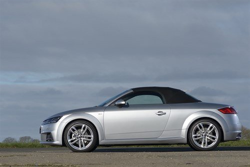 Audi TT Roadster 2015 Side Silver Top Up