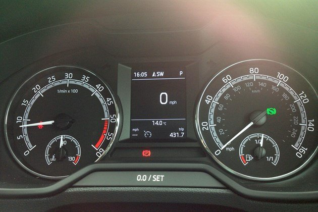 Skoda Octavia 2017 Digital Speed Display