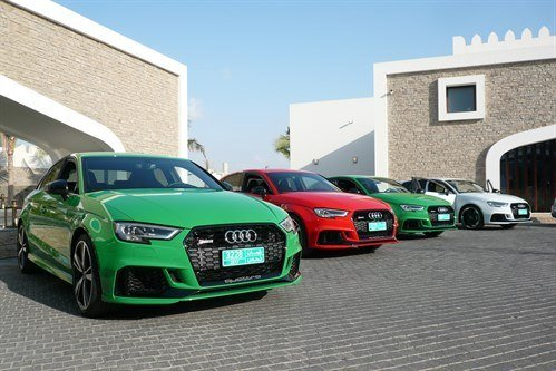 Audi RS3 400s Lined Up