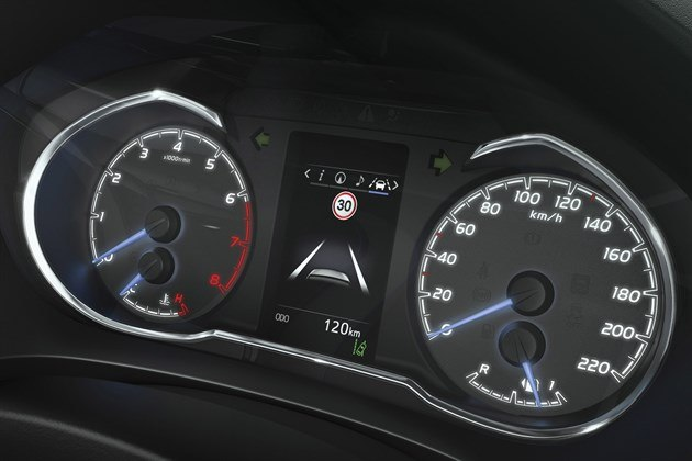 Toyota Yaris 2017 Dials And Info Display