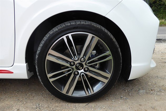 KIA Picanto 2017 White Front Wheel