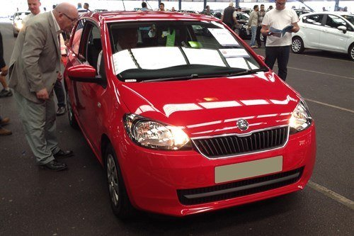 Skoda Citigo Red F34 Blackbushe