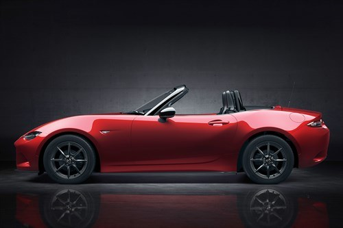 Mazda MX5 2015 Side Top Down Red
