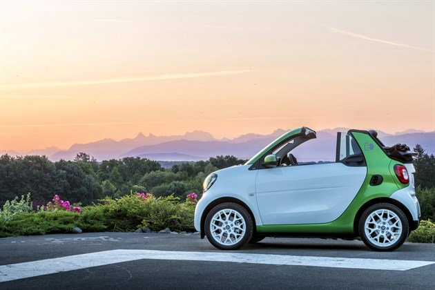 Smart For Two Electric 2017 Side Sunset (1)