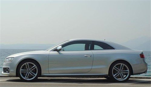 Audi A5 Coupe Side Against Lake