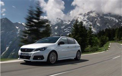 Peugeot 308 2017 F34 White Mountains Cornering