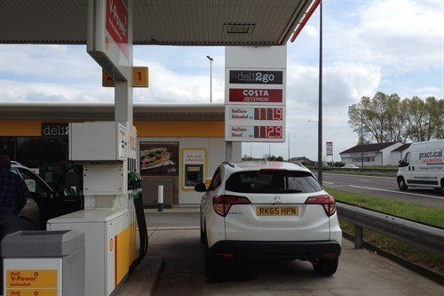 Honda HR-V Re -fuel Barnsdale Rear May 2016