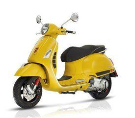Yellow Vespa