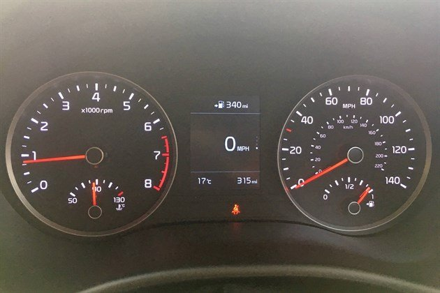 KIA Stonic Green Top Mph Display