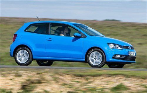 VW Polo 2014 Side Blue