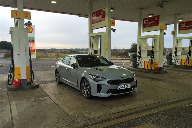 KIA Stinger 2018 Shell Station