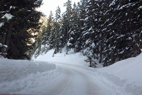 Snowbound Alpine Road March 2015 (1)
