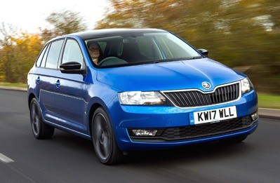 Blue Skoda Rapid Spaceback