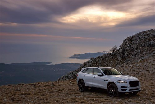 Jaguar F Pace White F34 Sunset