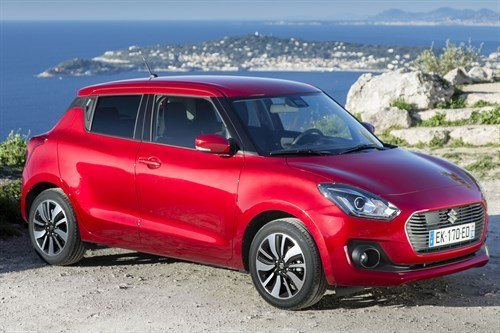 Suzuki Swift 2017 Red F34 Cliff Top