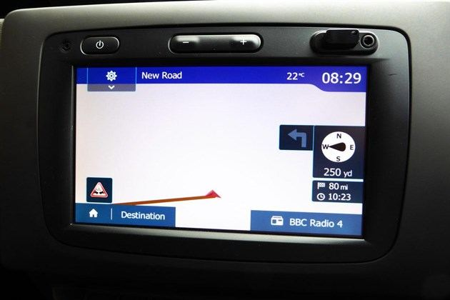 Dacia Duster 2018 Satnav Screen
