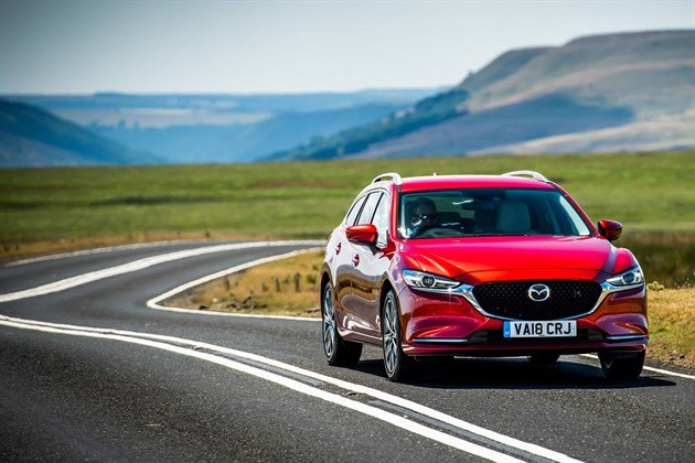 Mazda 6 Tourer 2018 F34 Road Red