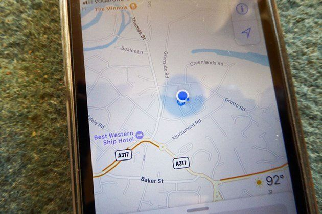 Google Maps On Smartphone