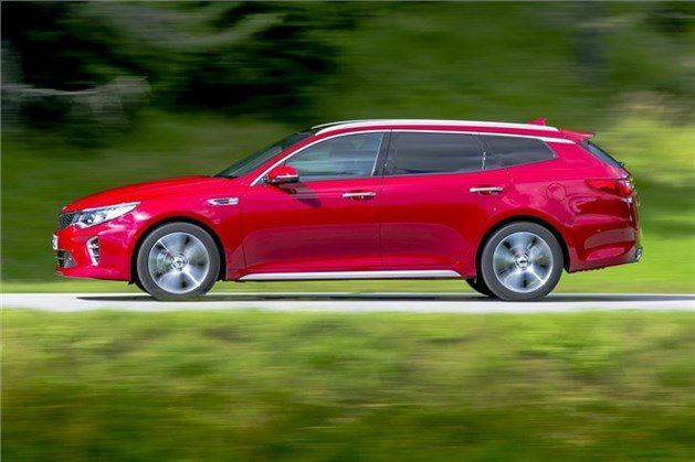 Kia Optima SW Side Red