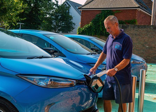 030818 09h 00 WEST SUSSEX COUNCIL FLEET GOES ELECTRIC WITH RENAULT ZOE (5)