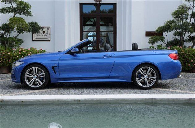BMW 4 Series Convertible Top Down Side