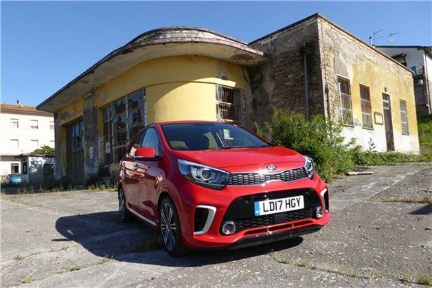 KIA Pcanto 2017 Red F34 Art Deco Building