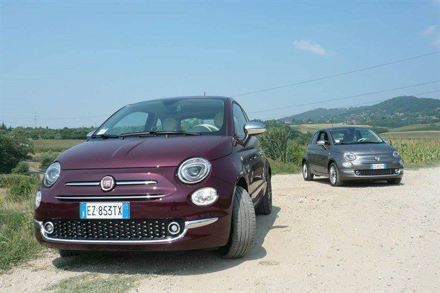 FIAT 500 2015 Burgundy And Grey (1)