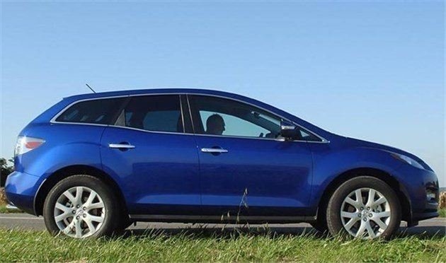 Mazda CX7side Blue