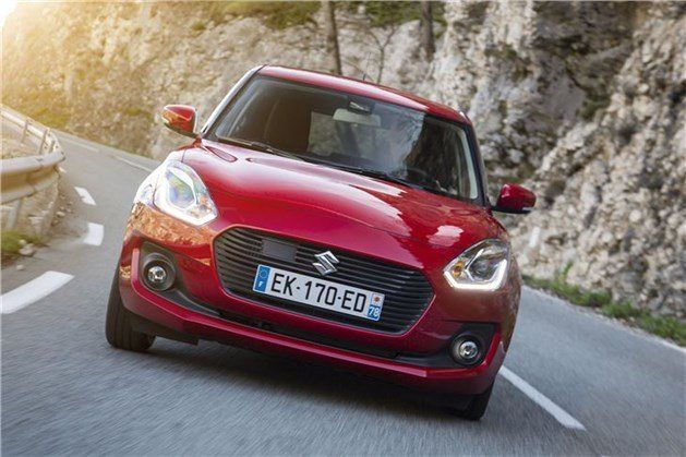 Suzuki Swift 2017 Red Front On Road