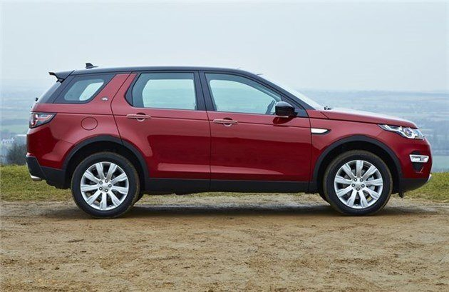 Land Rover Discovery Sport Side Red