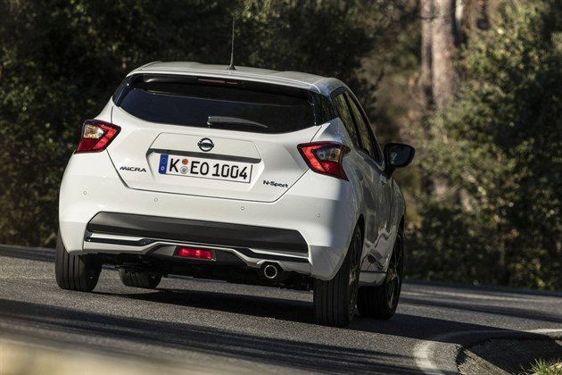 Nissan Micra 2019 Rear White Speed