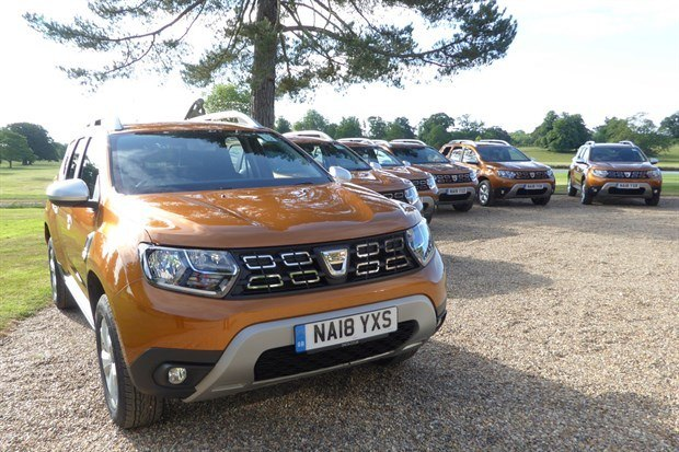 Dacia Duster 2018 Line Up Outside House Possible Lead