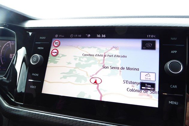 VW T-Cross 2019 Satnav Screen
