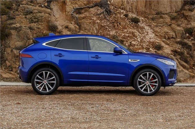 Jaguar E-Pace Side Blue