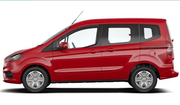 Ford Tourneo Courier 2018 Side Red (1)