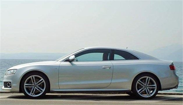 Audi A5 Coupe Side Against Lake (1)