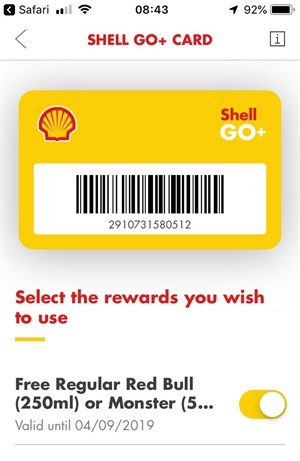 Shell Go + Card On Smartphone (1)