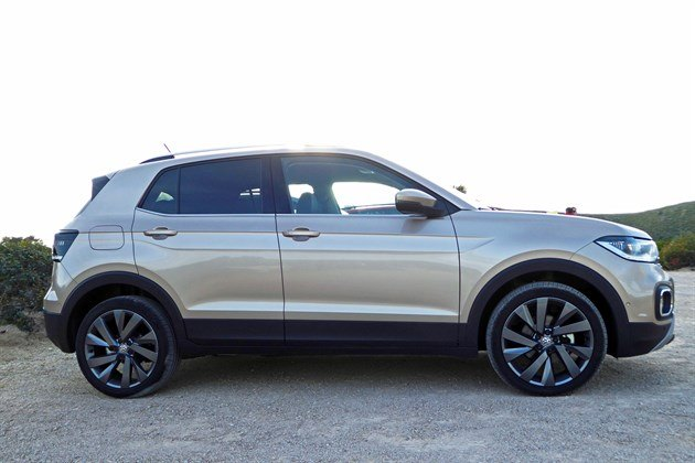 VW T-Cross 2019 Side Champagne